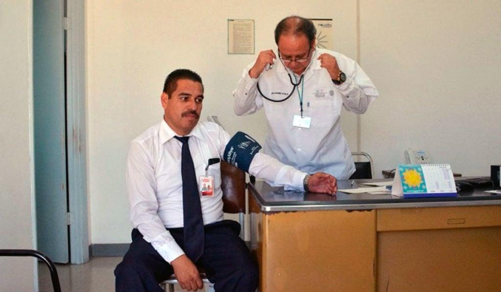 exámenes médicos a operadores