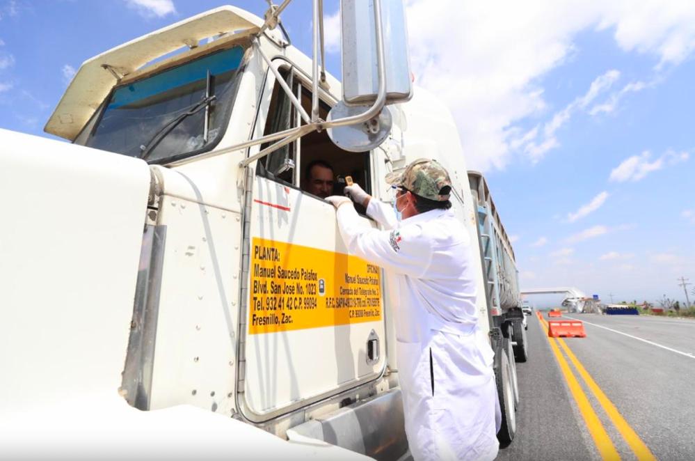 Zacatecas blinda sus carreteras ante coronavirus