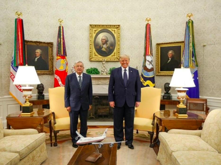 AMLO se muestra abierto a la inversión en visita a Washington