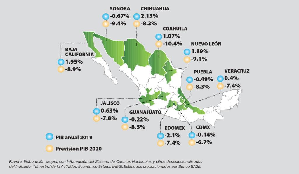 COVID-19 profundiza brecha entre economía de los estados