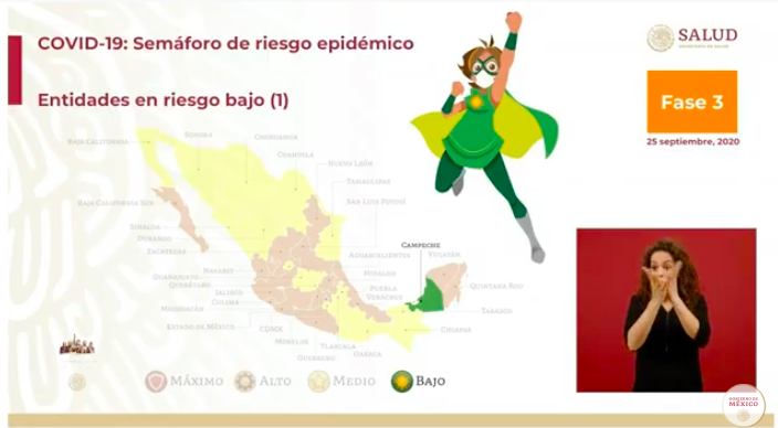 Semáforo epidémico: Campeche llega al color verde