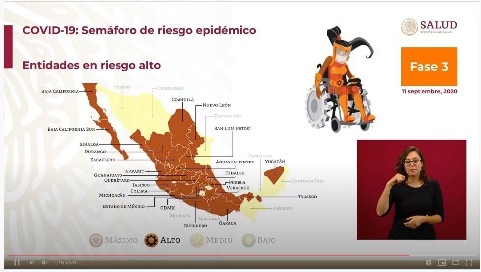 Semáforo COVID-19: México se pinta de naranja