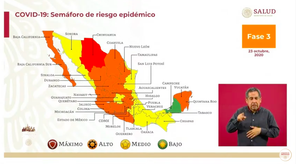 Semáforo epidémico: tres estados en riesgo de volver al rojo