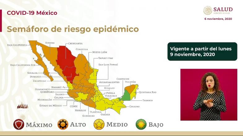 Semáforo de riesgo epidémico-COVID