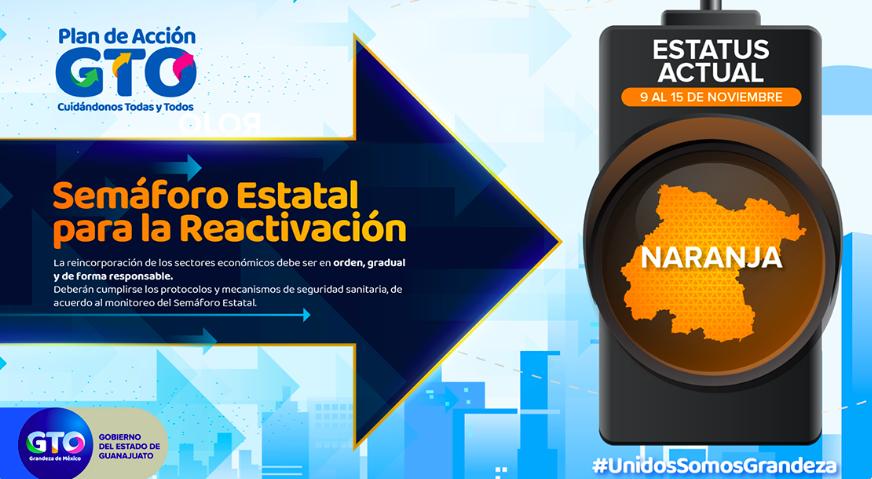 Semáforo naranja: Guanajuato restringe actividades económicas