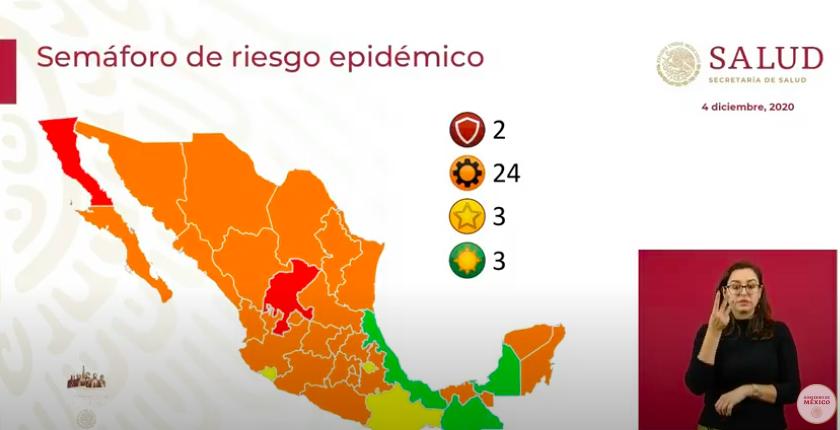 Semáforo epidémico: 10 estados están cerca de pasar al color rojo