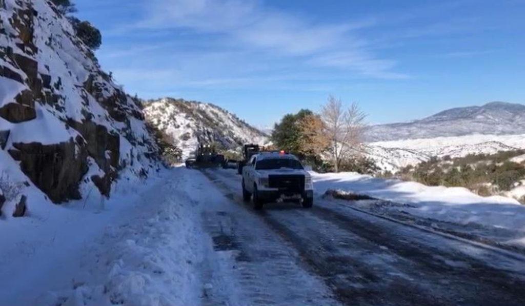 Cierran carreteras en Sonora y Chihuahua por nevadas