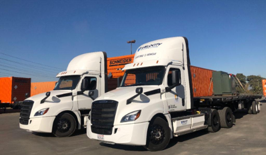 Freightliner eCascadia ofrece infraestructura de carga para otras eCascadias en EU