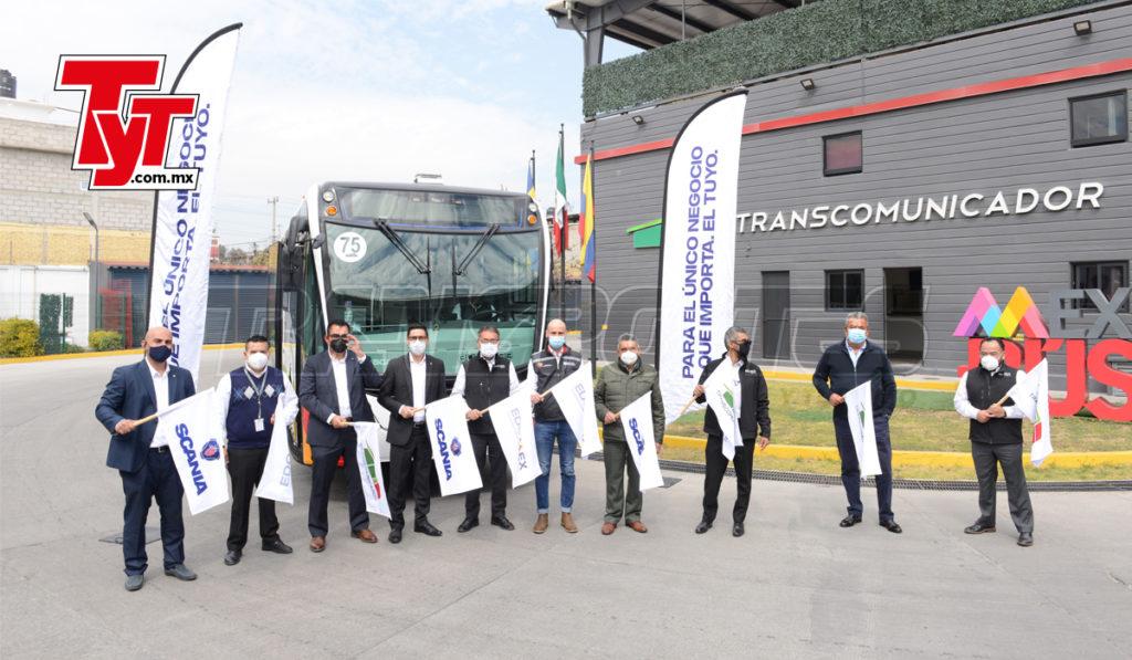 Scania México entrega un autobús articulado a gas natural al Mexibús