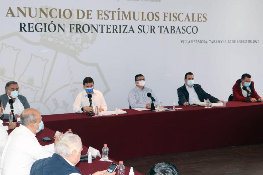 Tabasco lanza estímulos fiscales en municipios fronterizos