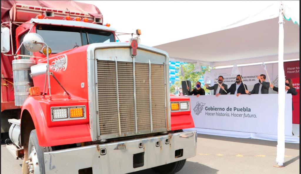 Puebla manda 8 toneladas de productos agrícolas a EU
