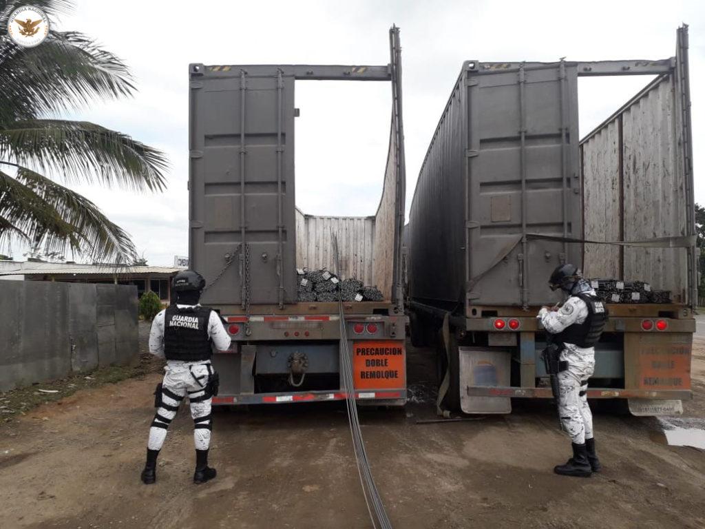 Caen ocho por robar carga con varilla en Veracruz