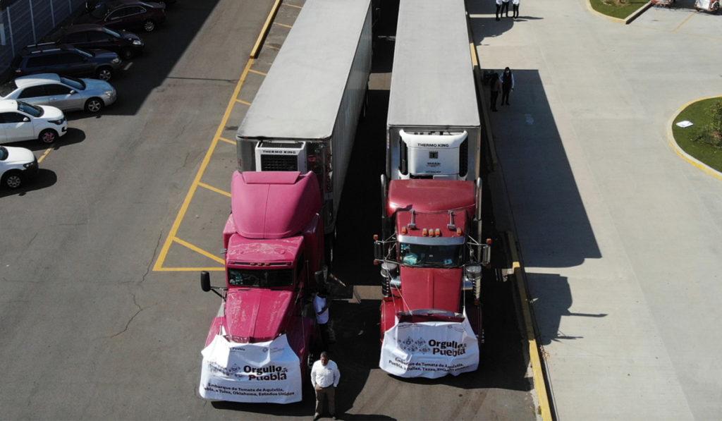 Autotransporte en Puebla mueve más de 500 toneladas de tomate a EU