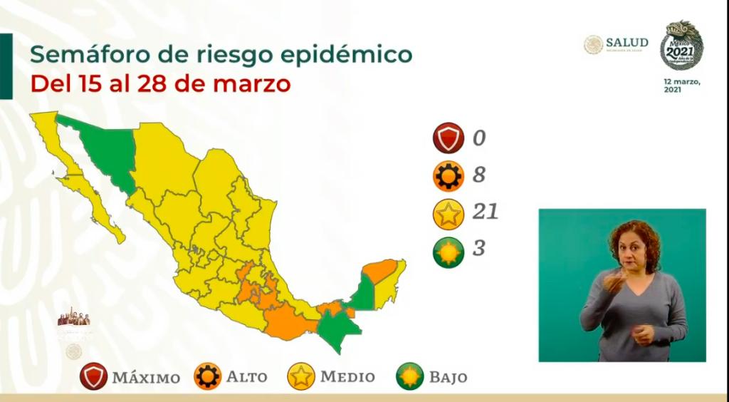 Sonora pasa a color verde en el semáforo de riesgo epidémico