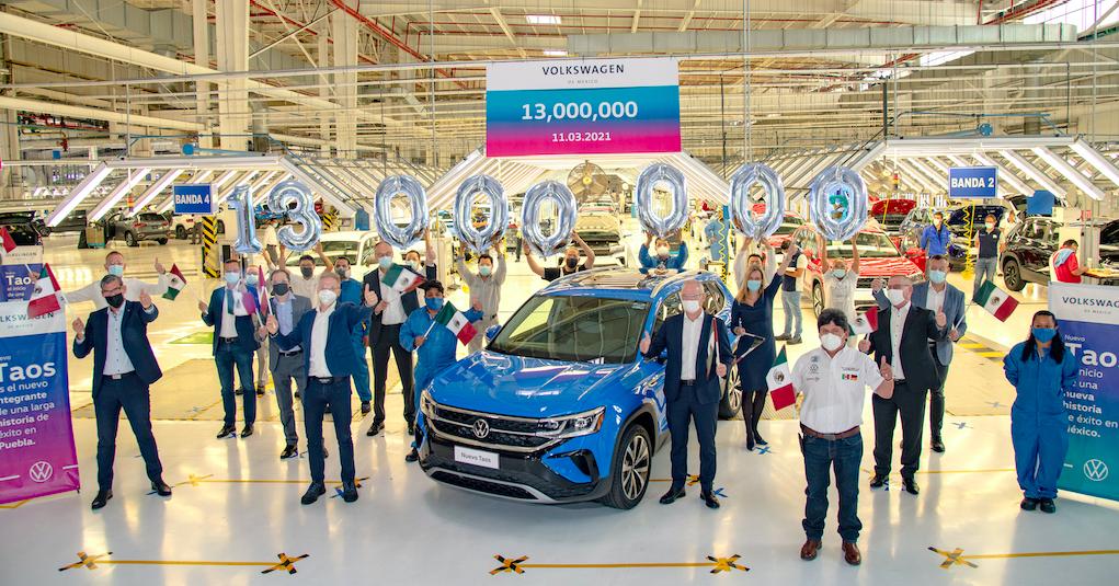 SUV's impulsan producción récord de Volkswagen en Puebla