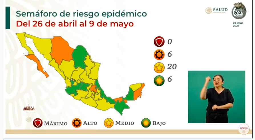 Semáforo epidémico: los estados turísticos de BCS y Quintana Roo, en riesgo alto