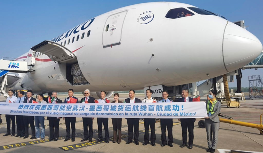 Aeroméxico inaugura ruta directa de carga con destino a China