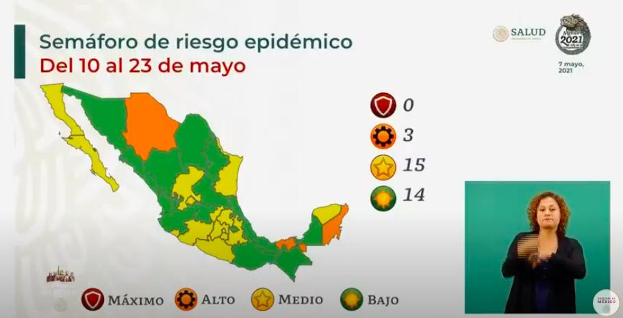 Casi la mitad de México, en semáforo verde