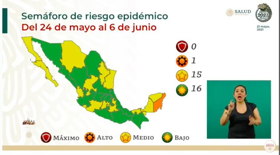 La mitad del país, en semáforo de riesgo epidémico verde