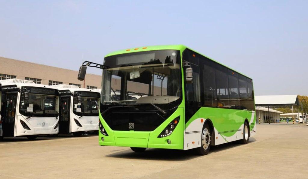 Llegan a Jalisco 38 buses para la primera ruta 100% eléctrica