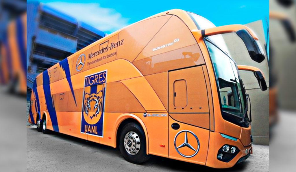 Club Tigres estrena autobús Mercedes- Benz