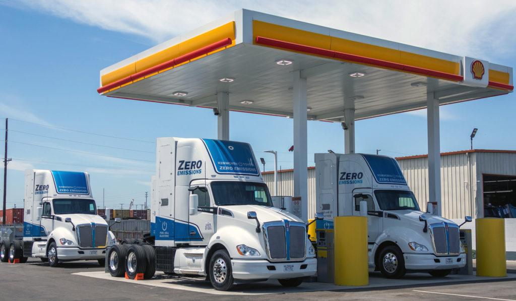 Los Ángeles estrena estaciones de carga de camiones a hidrógeno