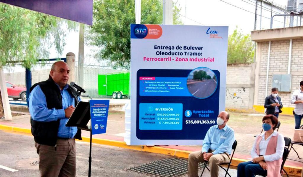 Invierten en mejoras para la zona industrial de Guanajuato