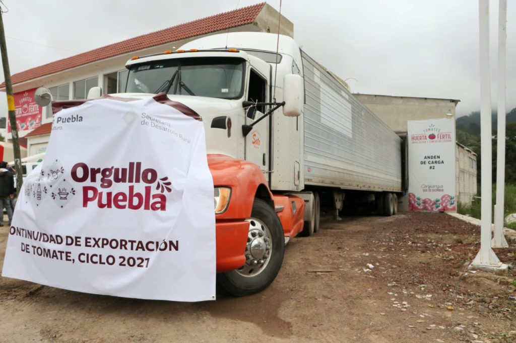 Autotransporte une a la Sierra de Puebla con mercado de Estados Unidos