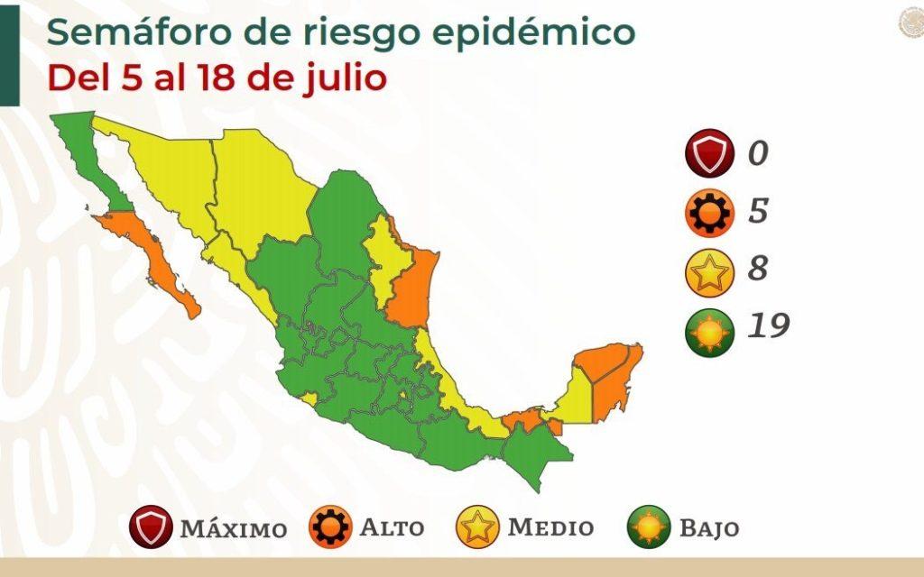 Semáforo de riesgo epidemiológico se mantiene sin cambios