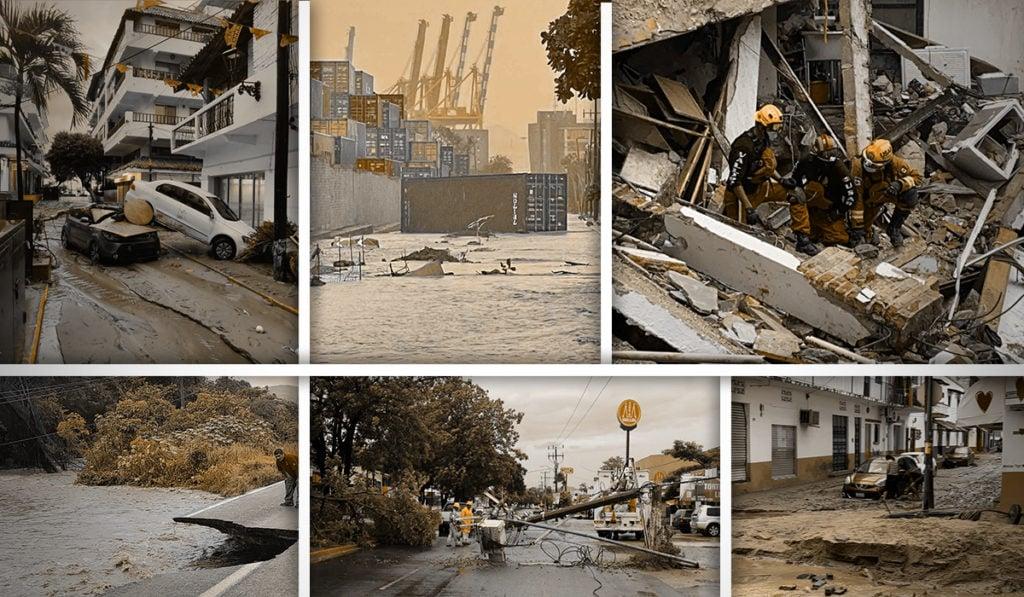 Nora: el recuento de los daños tras su paso en el Pacífico