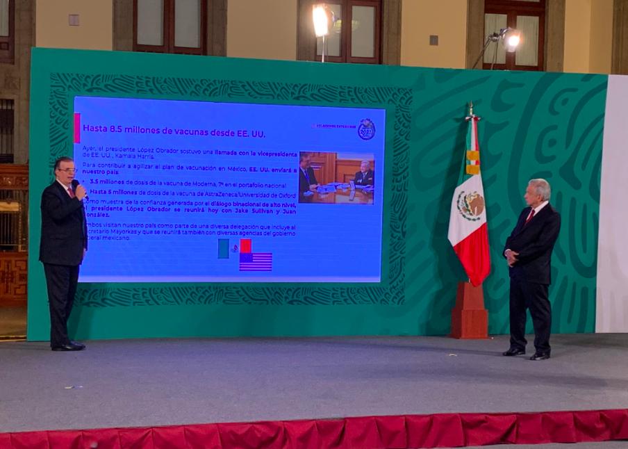 Estados Unidos enviará 8.5 millones de vacunas a México