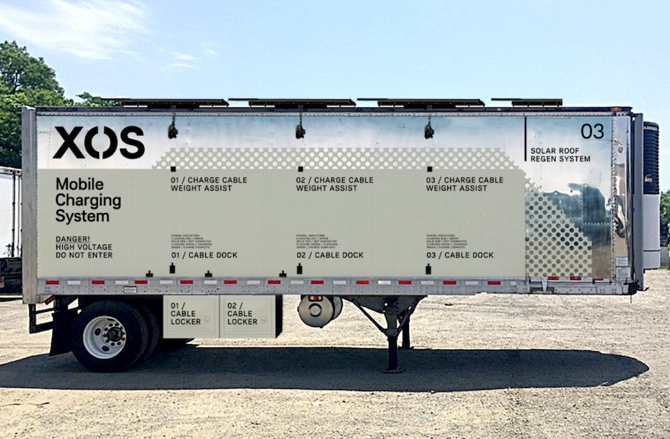 Nace Xos Hub, estación de carga sobre ruedas para pesados