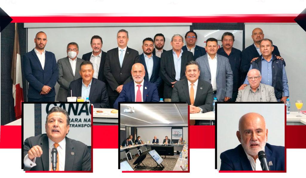 Ramón Medrano presenta plan de trabajo a socios Canacar en la región Centro