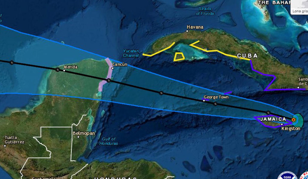 Grace se convierte en huracán; alertan a la Península de Yucatán