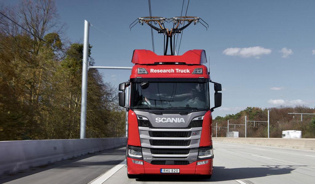 Scania, lista para estudio de viabilidad de carretera eléctrica en Reino Unido