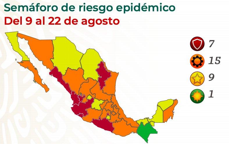 Semáforo rojo para la CDMX, Nuevo León, Jalisco y otras economías