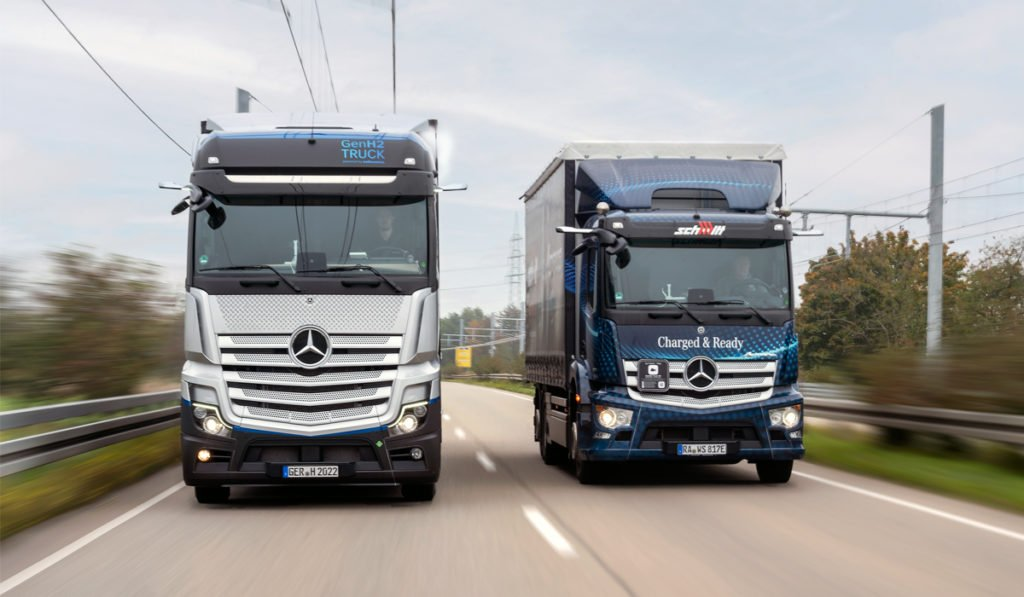 Camiones a hidrógeno de Daimler, con permiso para circular en Alemania