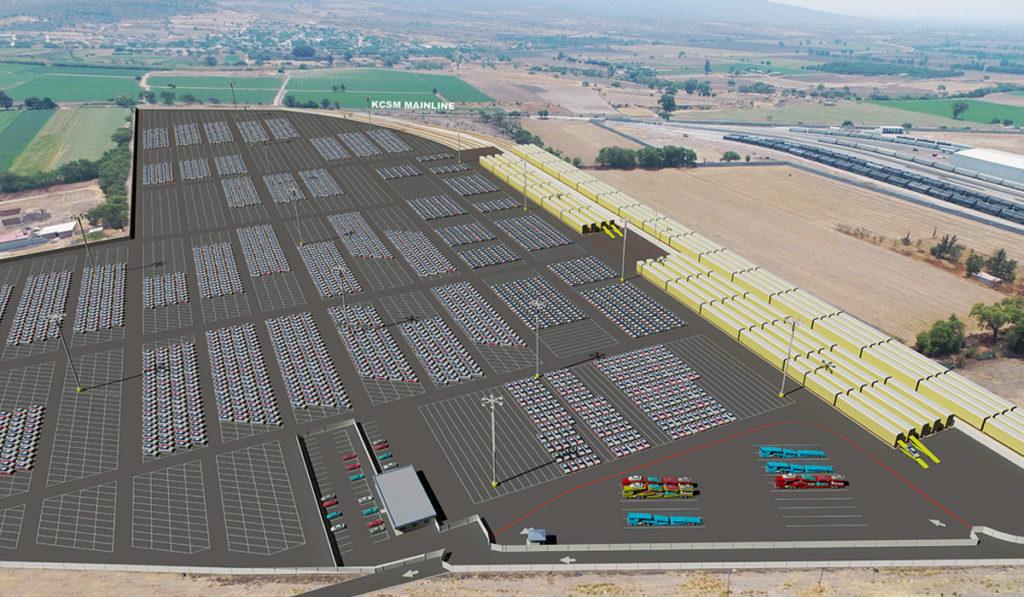 KCS va por centro de distribución de vehículos en el Bajío