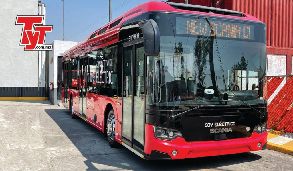 Bus Scania 100% eléctrico, listo para rodar en la CDMX